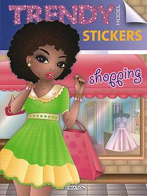Trendy model stickers - shopping