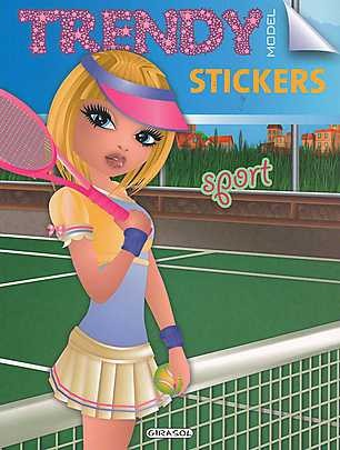 Trendy model stickers - sport