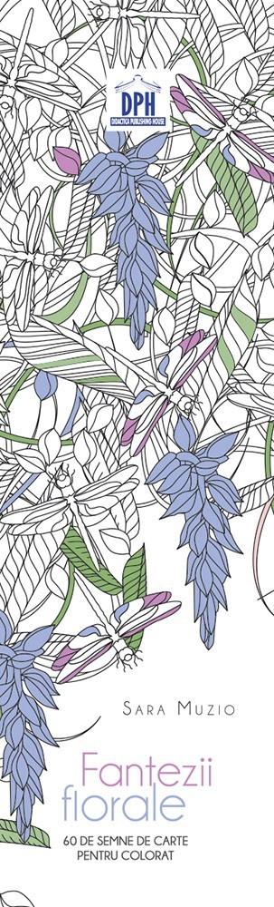 Semne de carte de colorat - Fantezii Florale