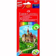 Creioane colorate 12 bucati diferite Eco Faber-Castell