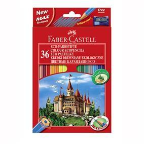 Creioane colorate 36 bucati diferite Eco Faber-Castell