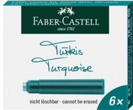 Cartuse Cerneala Mici Turcoaz 6 Buc/cutie Faber-Castell