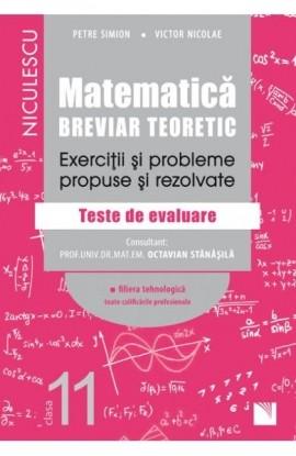 Matematică, clasa a XI-a. Breviar teoretic. Exerciţii şi probleme propuse şi rezolvate. Filiera teoretică, profilul real, specializarea matematică-informatică