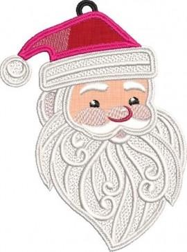 Mos Craciun - Santa brodat